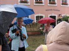 Trier 2010:Prijazna vodička med ogledom mesta Trier (Foto: Č.Košak)