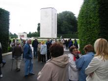 Trier 2010: V Luksemburgu pri spomeniku posvečenemu padlim ameriškim vojakom med 2. svetovno vojno (Foto: Č.Košak)