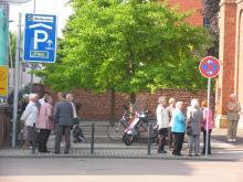 Zbor pred mašo za laringektomirane ( Foto: Č.Košak)