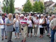 Nemška delegacija pri ogledu Ljubljane ( Foto: S. Ribaš )